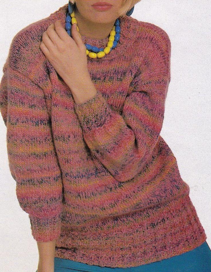 Bond Knitting Patterns : Vintage BOND Knitting Machine Pattern Instructions Ladies Aran Jumper Jumpe...
