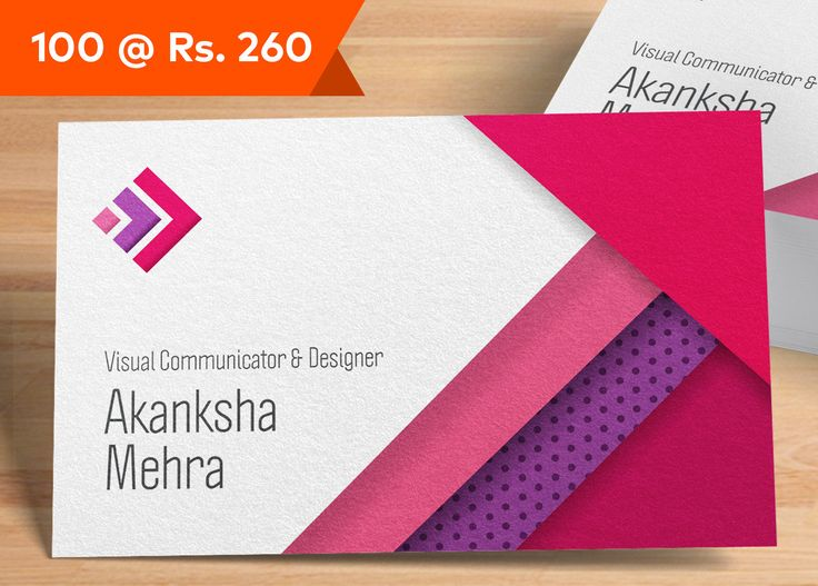 Visiting Card Design | Business Card | Online Visiting Cards Maker | Vistaprint.in