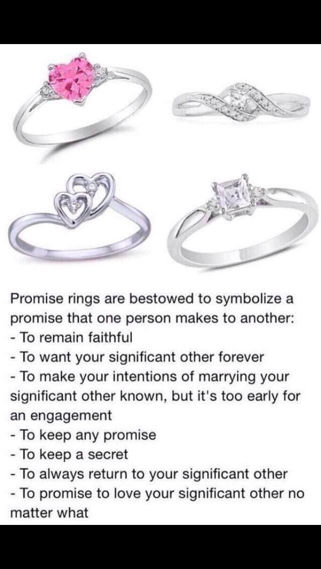 Promise rings for girlfriend meaning