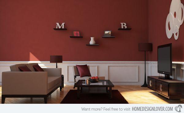15 Mesmerizing Maroon Living Room Walls | Living rooms
