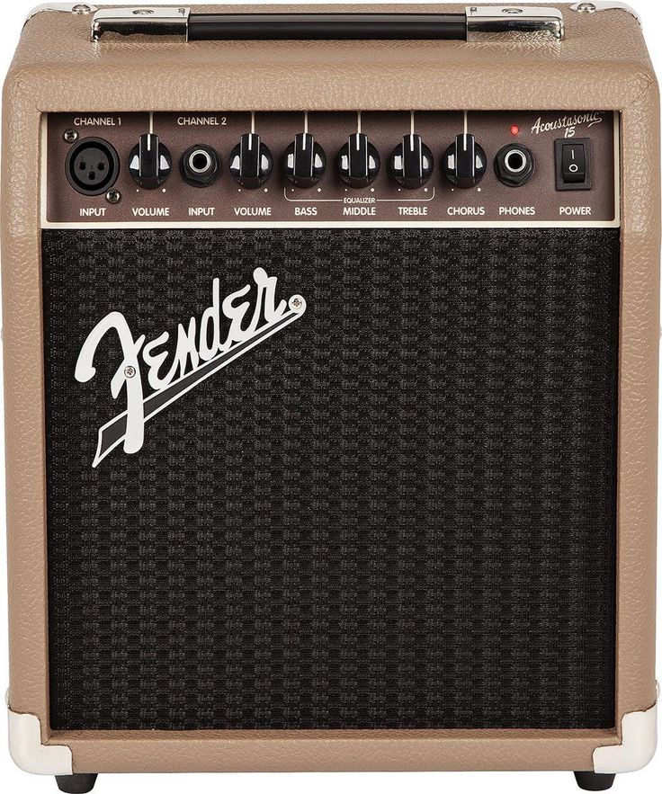 Fender Acoustasonic 15: 15-Watt Acoustic Guitar Amp. It offers pretty good value with a street price of only $99.99 and it comes with Fender's 5 Year Transferable Warranty. For a detailed guide to acoustic guitar amps see https://www.gearank.com/guides/acoustic-guitar-amp