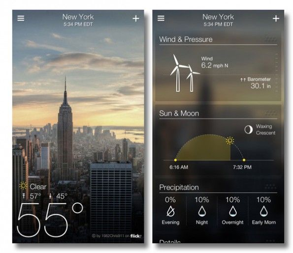 yahoo's updated weather app for iOS