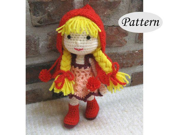 PATTERN  Little Red Riding Hood  Amigurumi  by amigurumi4ever