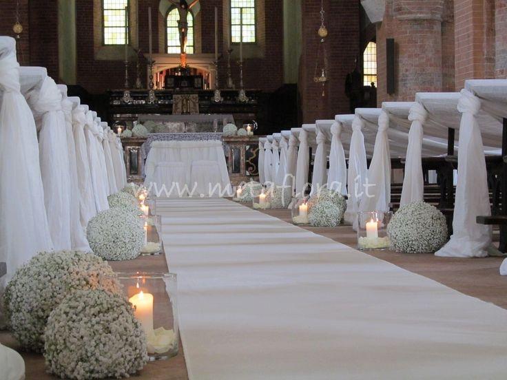 Favori Oltre 25 fantastiche idee su Fiori per la chiesa da matrimonio su  EX25
