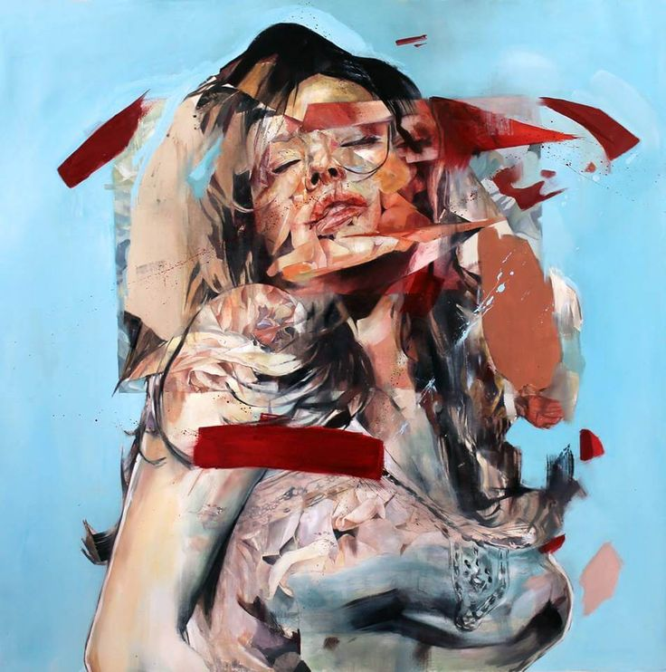 Creative Abstract Portrait Paintings by Benjamin Garcia