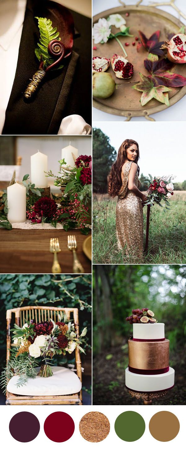 3024 best red burgundy cranberry maroon colored weddings images on pinterest petit fours - Brown and maroon color scheme ...