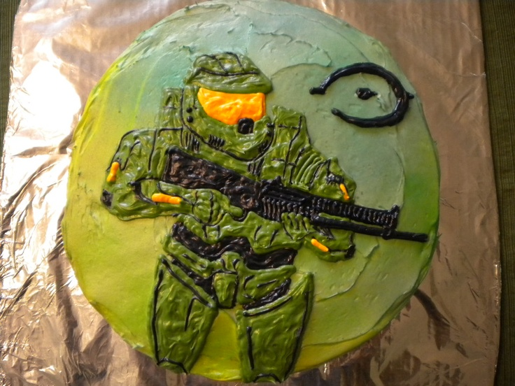 11 best Master Chief cakes images on Pinterest Halo cake Halo