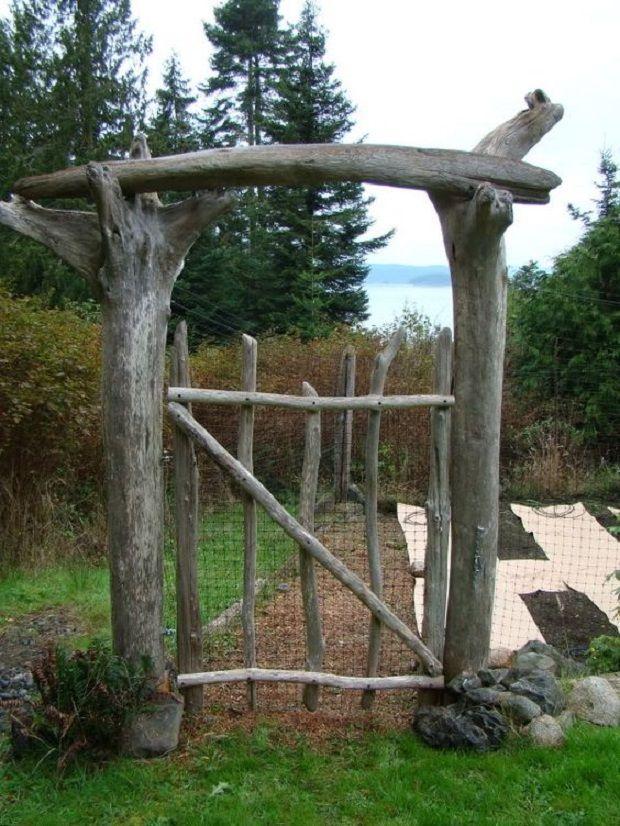 Die 25+ Besten Ideen Zu Rustikaler Zaun Auf Pinterest   Vorgärten Gartenzaun Mit Pergola Landhausstil