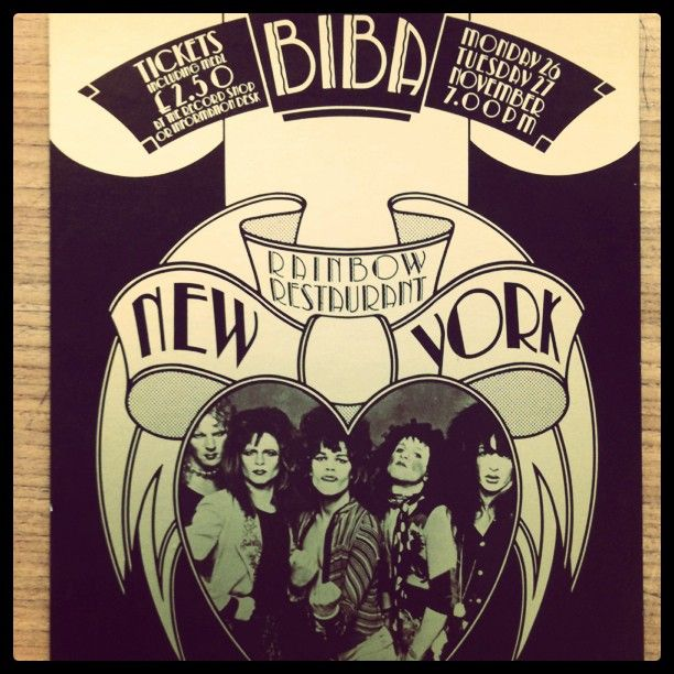 The New York Dolls play at the Rainbow Room at Biba, London in 1973.