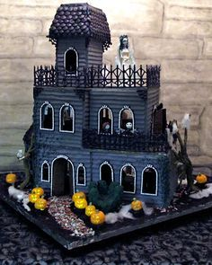 Ghoulish haunted gingerbread house