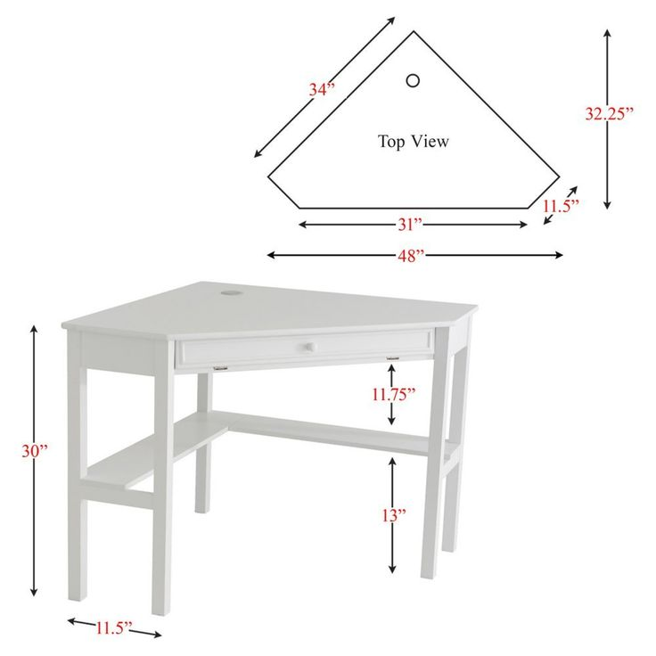 Southern Enterprises White Corner Computer Desk Desks At