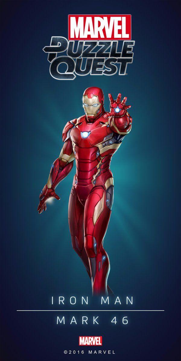 Homem de Ferro com a armadura Mark 46 (Tony Stark)