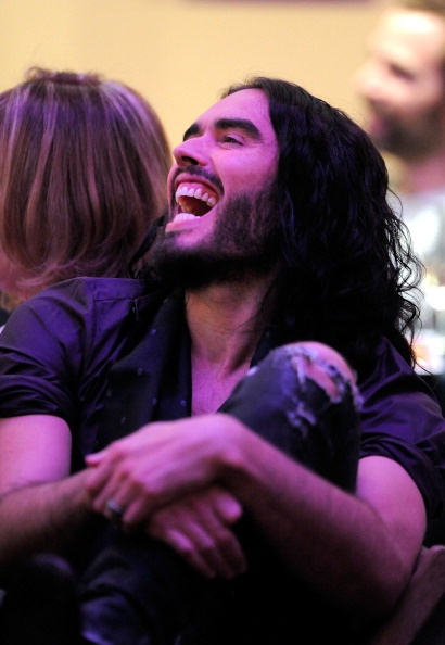 Russell Brand, he is crazy and so intelligent and damn witty i love it