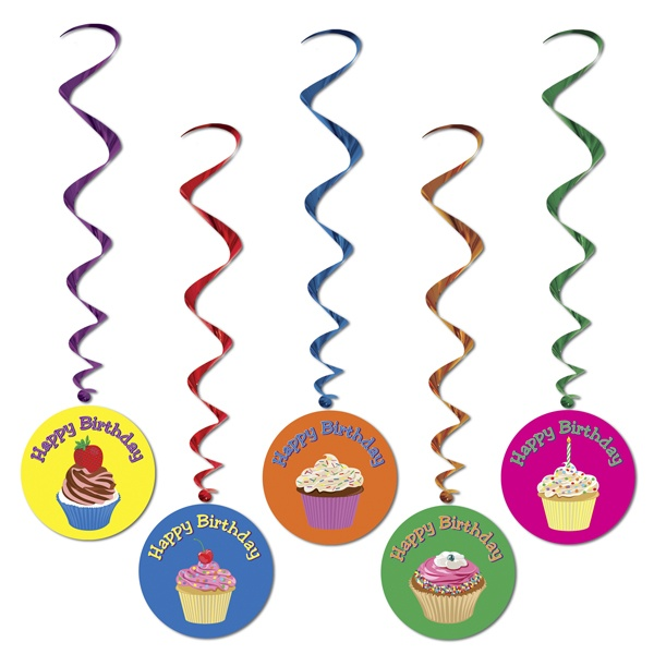 "Have a super sweet celebration this year with ""Happy Birthday"" Cupcake Whirls."