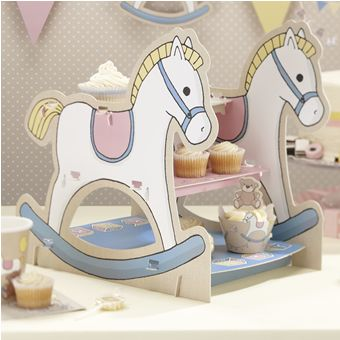 A charming 3 tier cake stand or sandwich tray with rocking horse sides and 3 tiers to hold your party goodies. It is easy to assemble and will look impressive on any party table!<br><br>The cake stand stand comes flat packed and measures 9.8 x 13.5 x 14.2 cm when assembled<br>