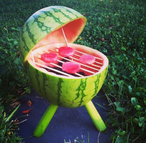 These watermelon carvings and baskets are not