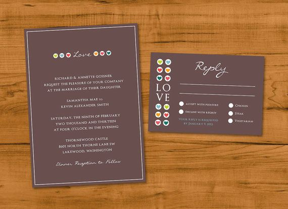 42 best wedding invitations images on pinterest design process colored heart wedding invitations and by noteworthy ink noteworthyink stopboris Gallery
