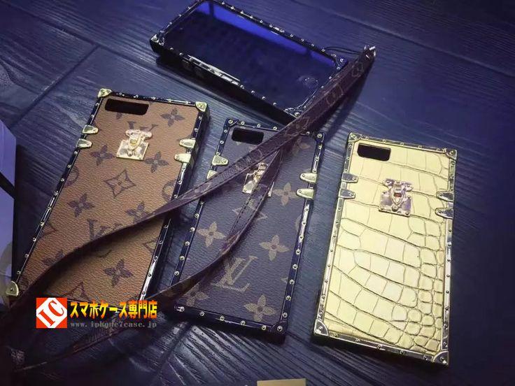 iphone7 plus ケースLV超ゴージャスiPhone7鉄角四角スクエア長方形アイフォン6s Plus/6/6プラス携帯カバー ストラップ付き最新デザイン上品セレブ愛用