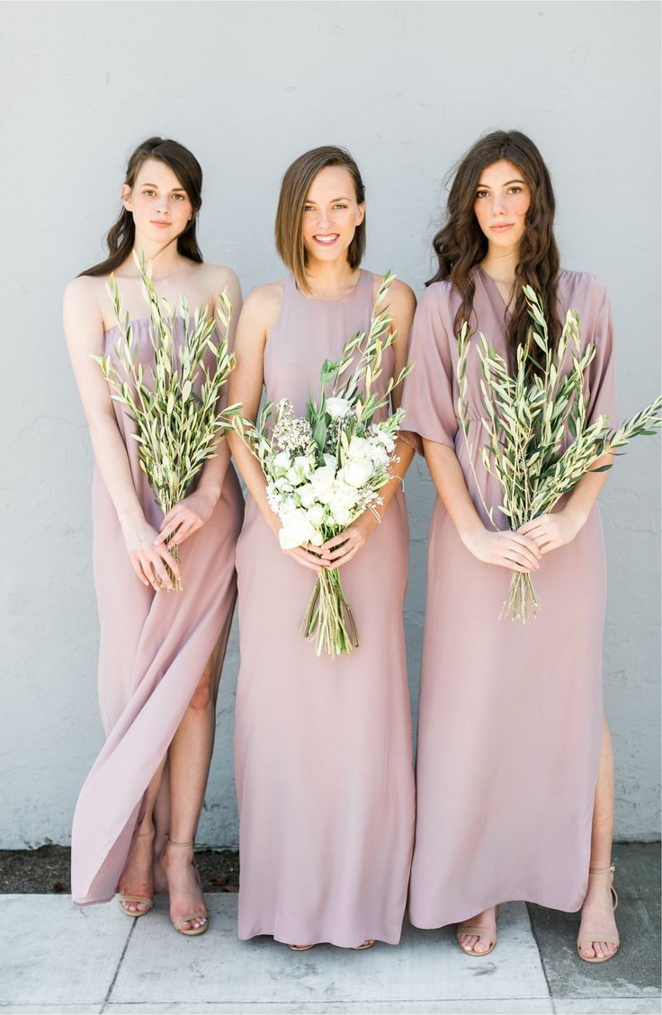 Modern Bridesmaid Dresses | Natalie Deayala Silk Column Gown from Nordstrom | affiliate