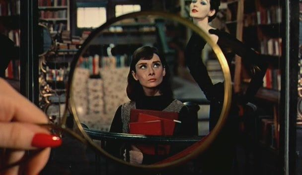 Audrey Hepburn in 'Funny Face' - not a librarian, not yet sexy, but relevant.