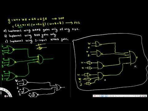 Design using NAND, NOR and 2 input NAND gates only - Digital Logic Design I