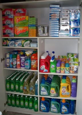 Couponing stockpile reminds me of my mom!