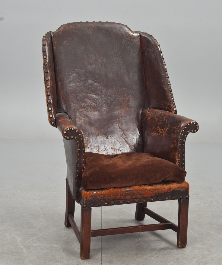 "Leather Armchair F Parker Amp Sons Ltd England Early 1900s Perfectly Imperfects ""�1"