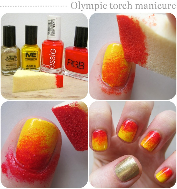 Torch olympic nails