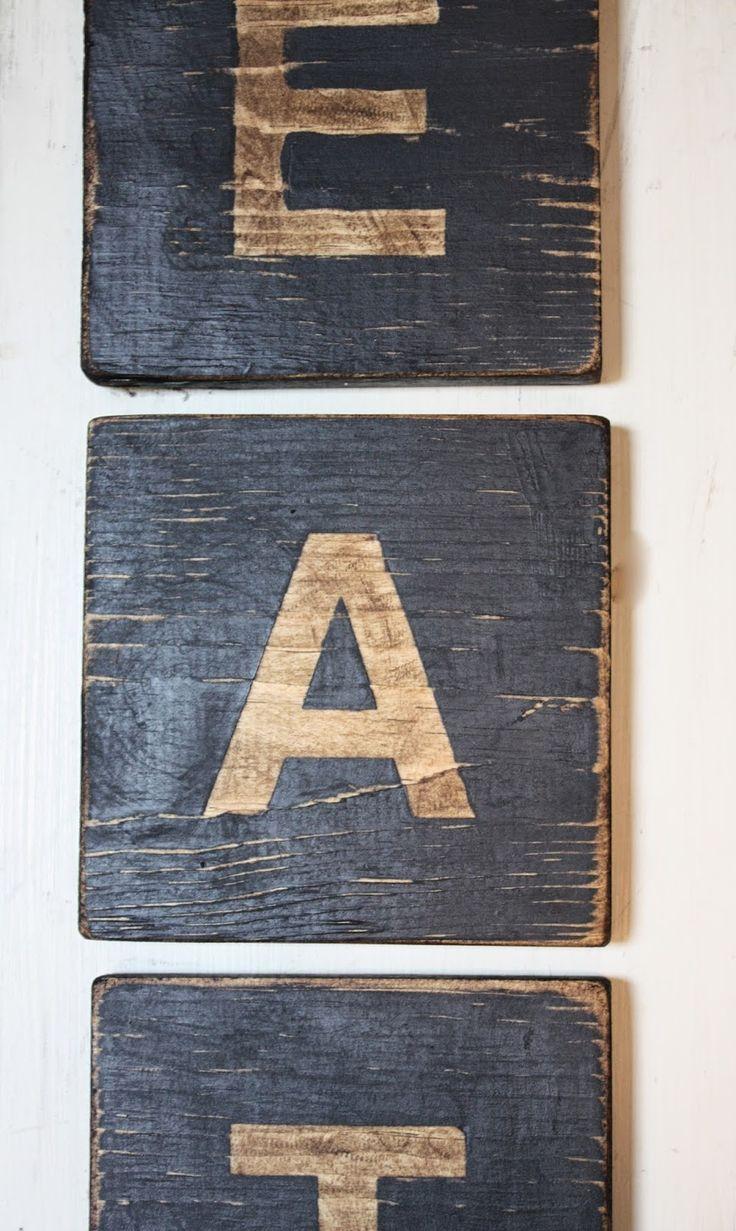 ~diy letter & number blocks~