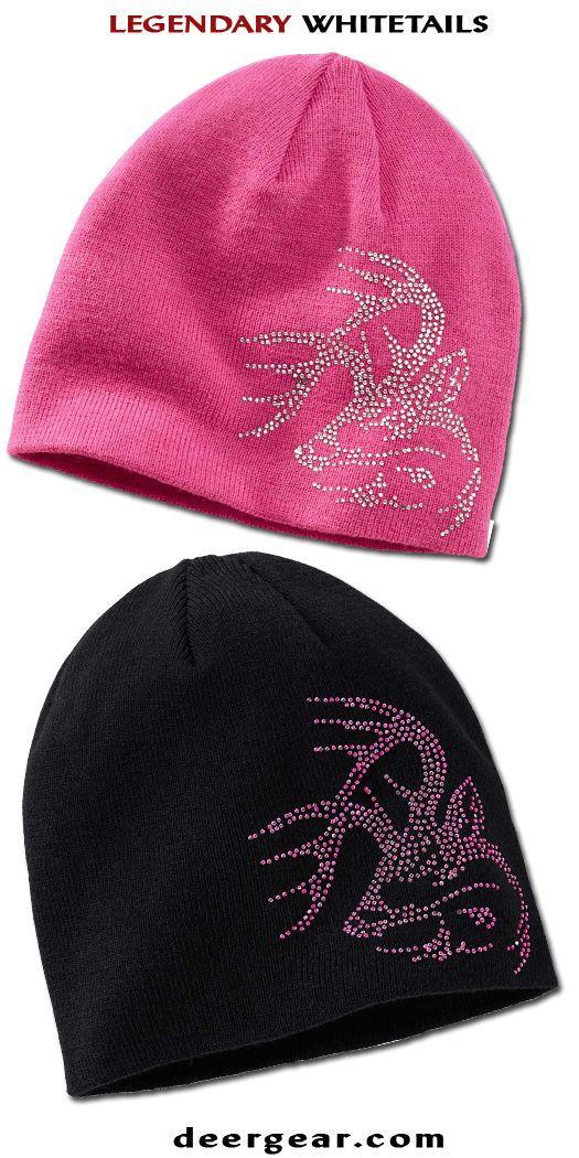 Women's Pink Bling Buck Beanie deergear.com #LegendaryWhitetails