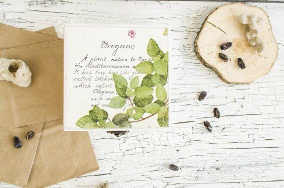 Oregano sieraden doos - Botanical box - Decoupaged vak - sieraden doos wood - botanische decor