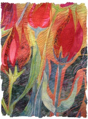Oh! Just incredible.Tulip quilt.