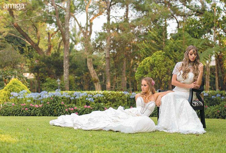 Vestidos largos de novia para una boda en el jardín. #Wedding #Dresses #Brides #AmigaBodas