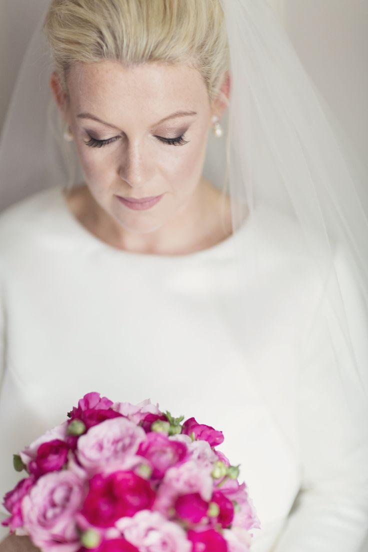 Bride - make up & hair - Anne Marie Mcelroy - Flowers - David Austin Garden Roses - Dress - Ritva Westenius London