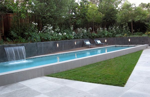 20 Extremely Refreshing Concrete Swimming Pools Home Design Lover Pool Shade Concrete Swimming Pool Lap Pool Designs
