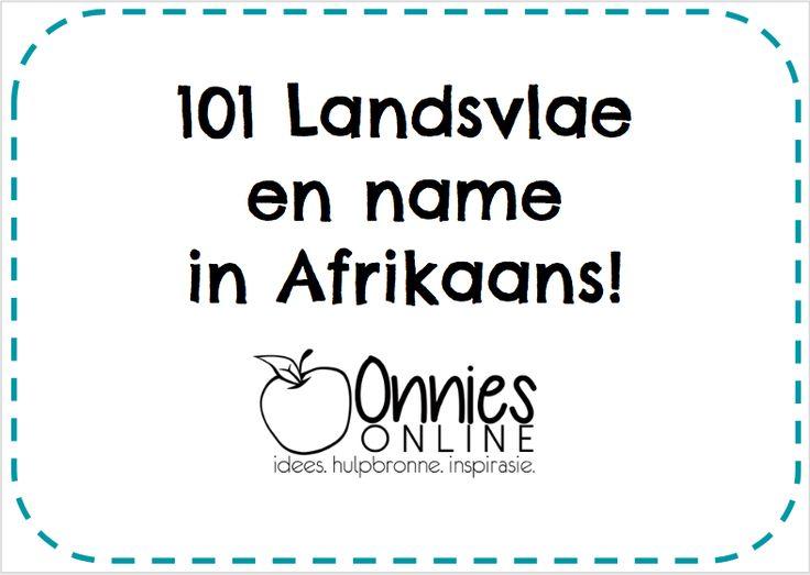 Landsvlae en name in Afrikaans!