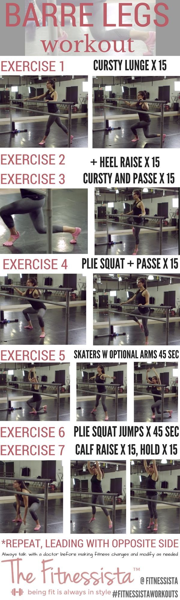 If you love doing barre workouts at home, this barre legs workout is a great one to get your legs shaking and build lean legs. The best part? Zero equipment! Check out the full post for form cues plus a video how-to. Save now for an awesome workout later. http://fitnessista.com