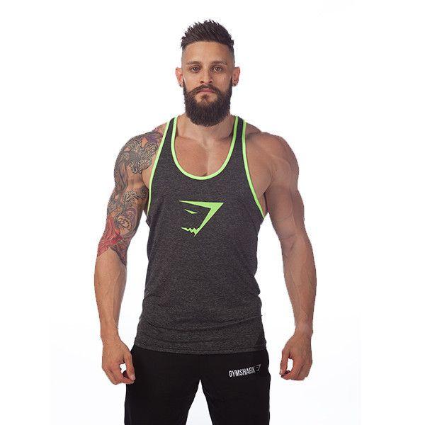 Gyúrós edző trikó férfi szürke zöld Edzéshez,fitneszhez, testépítéshez! Már 2 db-tól INGYENES szállítás! Többféle színben és méretben! Csak NÁLUNK elérhető