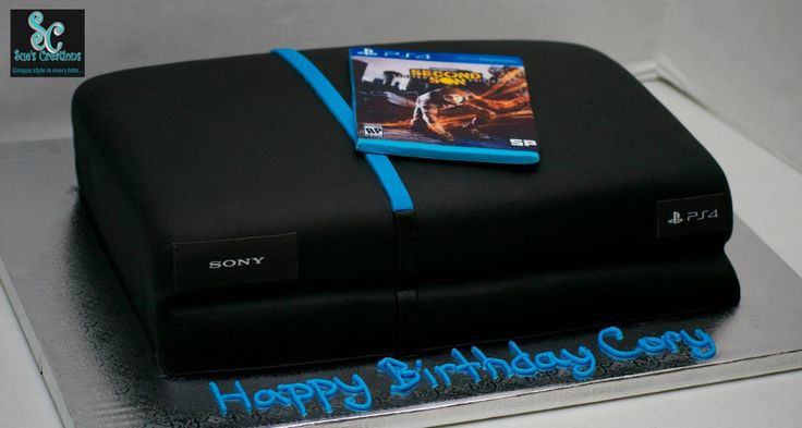 Ps4 Birthday Cake Custom Made Cakes Pinterest