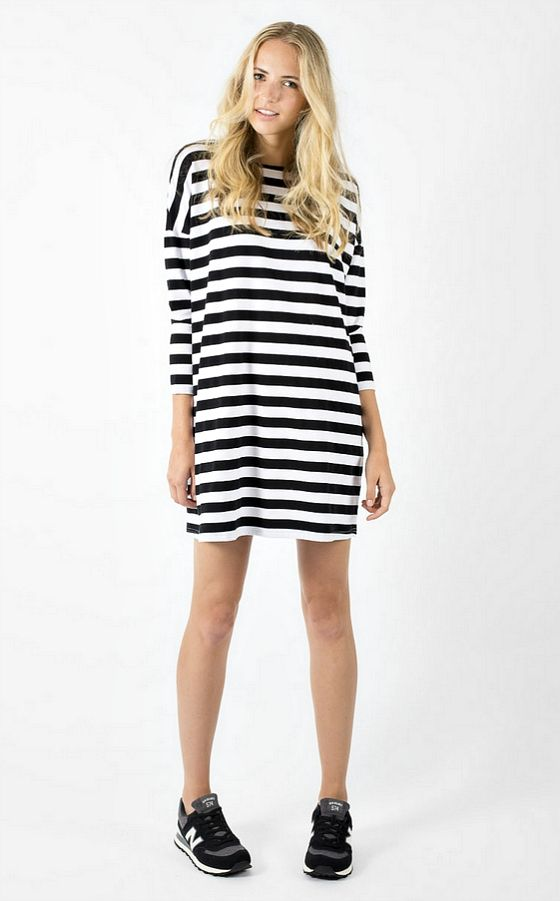 Bohemian Traders French Terry Striped Dress