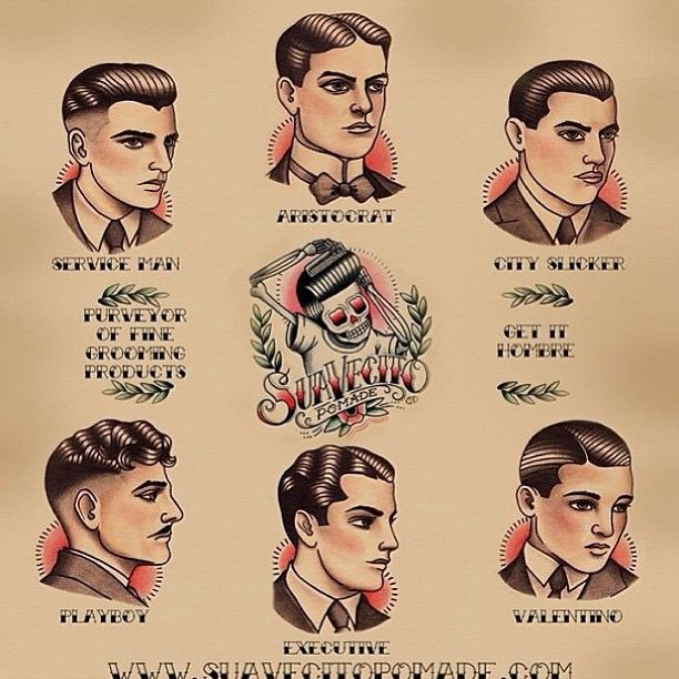 Gentle men's haircutting guide poster**
