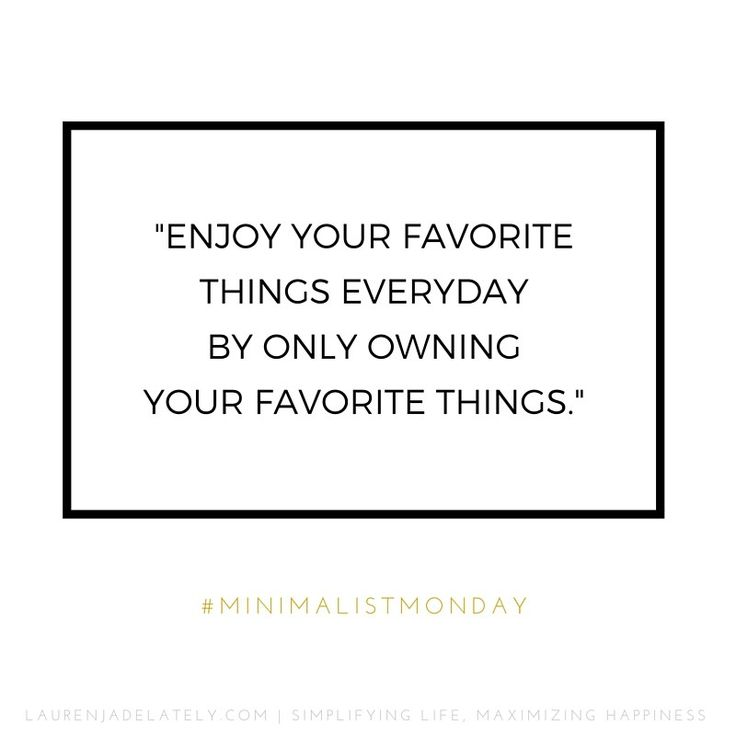 Great Minimalist Quote on Lauren Jade Lately | Austin Minimalist Blogger