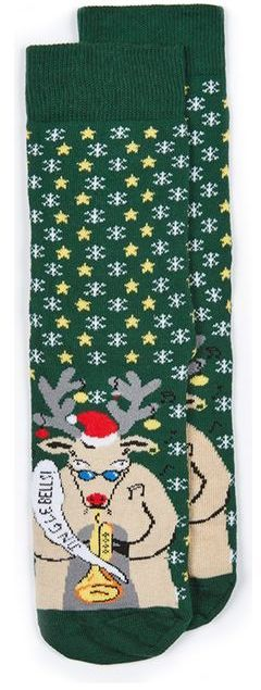 Topman Green Christmas 'Rudolf Jazz' Socks