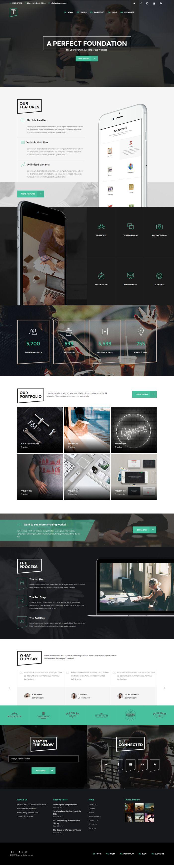 Thiago - Responsive Multi-Purpose WordPress Theme