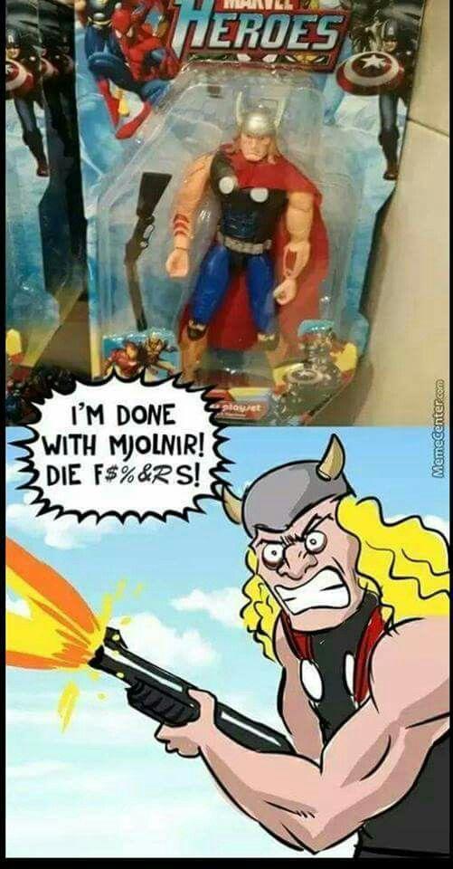 Bootleg Thor figure