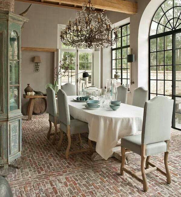 Brick Flooring Kitchen: 88 Best Brick Floor Images On Pinterest
