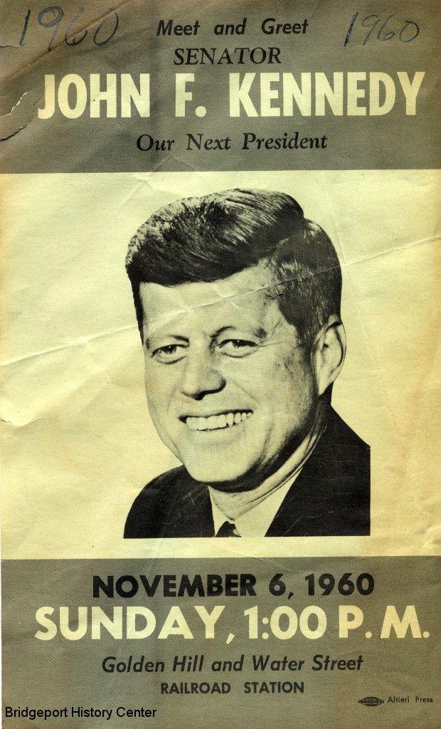 john f kennedy images | John F Kennedy November 6, 1960 | Bridgeport History Center