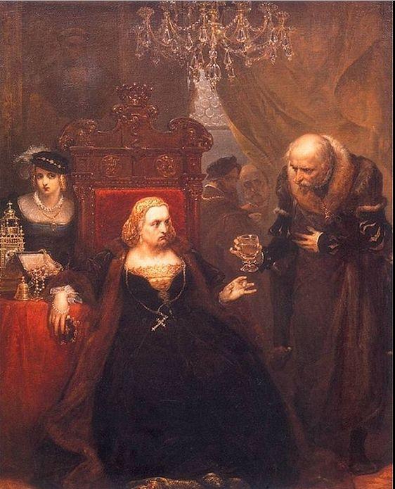 Poisoning of Queen Bona by Jan Matejko.