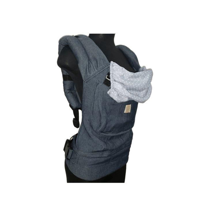 Mochila Anclas Azul. Muy fácil de usar y el más práctico de nuestros portabebés. Se usa a partir de que el bebé se sienta sin ningún apoyo y hasta los 18 meses o más.Es una mochila que distribuye el peso en ambos hombros del cargador y mantiene una posición anatómica en el bebé. Ideal para paseos largos y cortos./p>