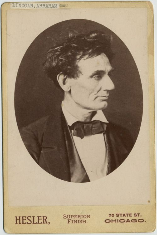 A Carte De Visite Portrait Of Abraham Lincoln Chicago February 1857 Photograph By Alexander Hesler ICHi 050191